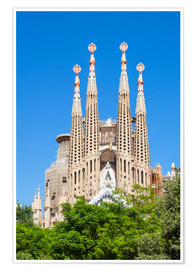 Premium poster  La Sagrada Familia church in Barcelona - Neale Clarke