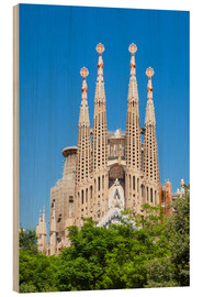 Wood print  La Sagrada Familia church in Barcelona - Neale Clarke