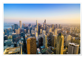 Premium poster  Skyline of Chicago, Illinois - Fraser Hall
