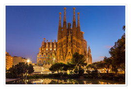 Premium poster  After over the La Sagrada Familia church in Barcelona - Neale Clarke