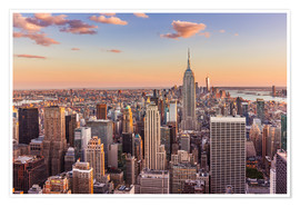 Premium poster Manhattan skyline in atmospheric light