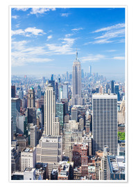 Premium poster Manhattan skyline in New York