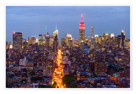 Premium poster  Empire State Building and city skyline - Fraser Hall