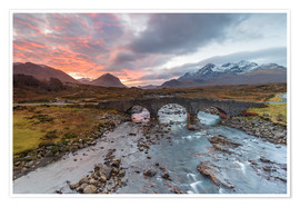 Premium poster  Sgurr nan Gillean in the Cuillin mountains - Andrew Sproule