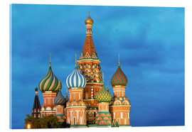 Acrylic print  Brilliant St. Basil's Cathedral in Moscow - Miles Ertman
