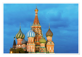 Premium poster  Brilliant St. Basil's Cathedral in Moscow - Miles Ertman
