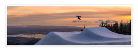 Premium poster  Freestyle skier in the sunset - Tyler Lillico