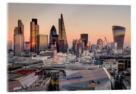 Acrylic print  London skyline from St Pauls Cathedral - Charles Bowman