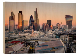 Wood print  London skyline from St Pauls Cathedral - Charles Bowman
