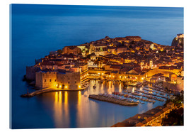 Acrylic print  Old port and old town Dubrovnik in the evening - Neale Clarke