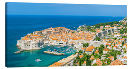 Canvas print  Old Port and Dubrovnik Old Town - Neale Clarke