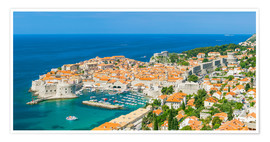 Premium poster  Old Port and Dubrovnik Old Town - Neale Clarke