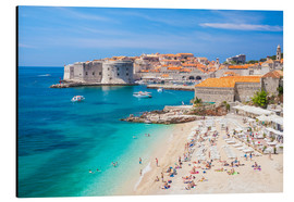 Aluminium print  Old harbor and old town of Dubrovnik - Neale Clarke