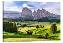 Canvas print  Alpe di Siusi South Tyrol - Achim Thomae