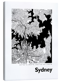 Canvas  City map of Sydney - 44spaces
