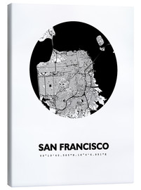 Canvas  City map of San Francisco - 44spaces