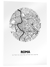 Acrylic print  Map of Rome - 44spaces