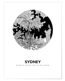 Premium poster  City map of Sydney - 44spaces