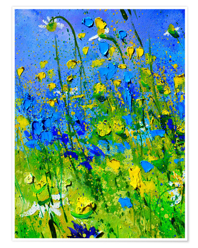 Premium poster Green meadow