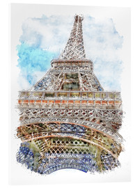 Acrylic print  Eiffel Tower, Paris - Peter Roder