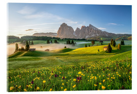 Acrylic print  Spring on the Seiser Alm Südtirol - Achim Thomae
