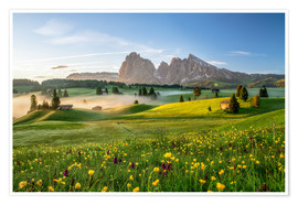 Premium poster  Spring on the Seiser Alm Südtirol - Achim Thomae