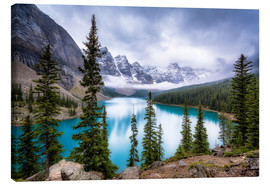 Canvas print  Moraine Lake - Andreas Kossmann