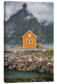 Canvas  The yellow fisherman's house in the Lofoten - Sören Bartosch