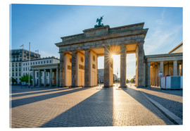 Acrylic glass  The Brandenburg Gate in Berlin - Jan Christopher Becke