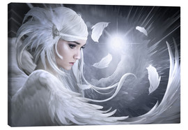 Canvas print  White feathers - Elena Dudina