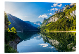 Acrylic print  Gosausee with dachstein view - Dieter Meyrl