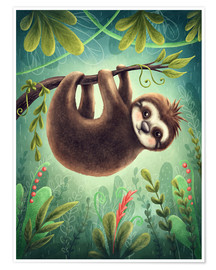 Premium poster Little Sloth