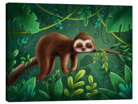 Canvas print  Sloth - Elena Schweitzer