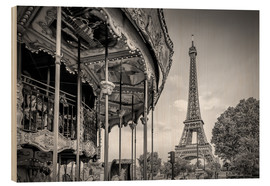 Wood print  Typical Paris - Melanie Viola