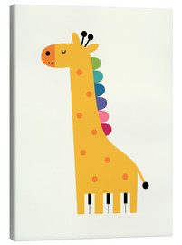 Canvas  Giraffe Piano - Andy Westface
