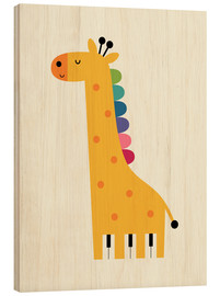 Wood print  Giraffe piano - Andy Westface