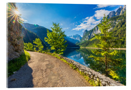 Acrylic print  Summer at the Gosausee - Dieter Meyrl