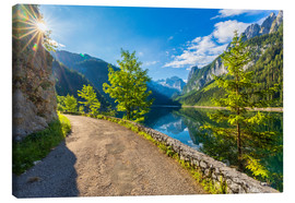 Canvas print  Summer at the Gosausee - Dieter Meyrl