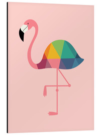 Aluminium print  Rainbow flamingo - Andy Westface
