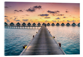 Acrylic print  Romantic sunset in the Maldives - Jan Christopher Becke
