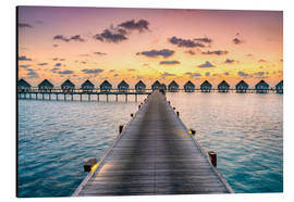 Aluminium print  Romantic sunset in the Maldives - Jan Christopher Becke