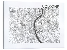 Canvas print  City map of Cologne - 44spaces