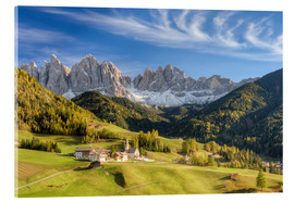 Acrylic print  Villnos Valley in South Tyrol - Michael Valjak