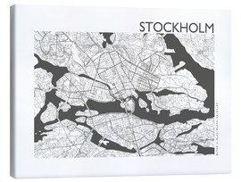 Canvas  City map of Stockholm - 44spaces