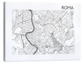 Canvas  Map of Rome - 44spaces