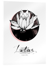 Acrylic print  Lotus motivation - Sonia Nezvetaeva
