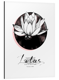 Aluminium print  Lotus motivation - Sonia Nezvetaeva
