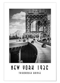 Premium poster Historic New York - Triborough Bridget, Manhattan