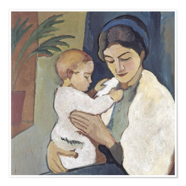 Premium poster  Mother and child - August Macke