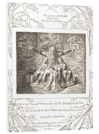Foam board print  Job and his Daughters - William Blake
